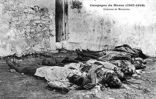 Apres bombardements 1907
