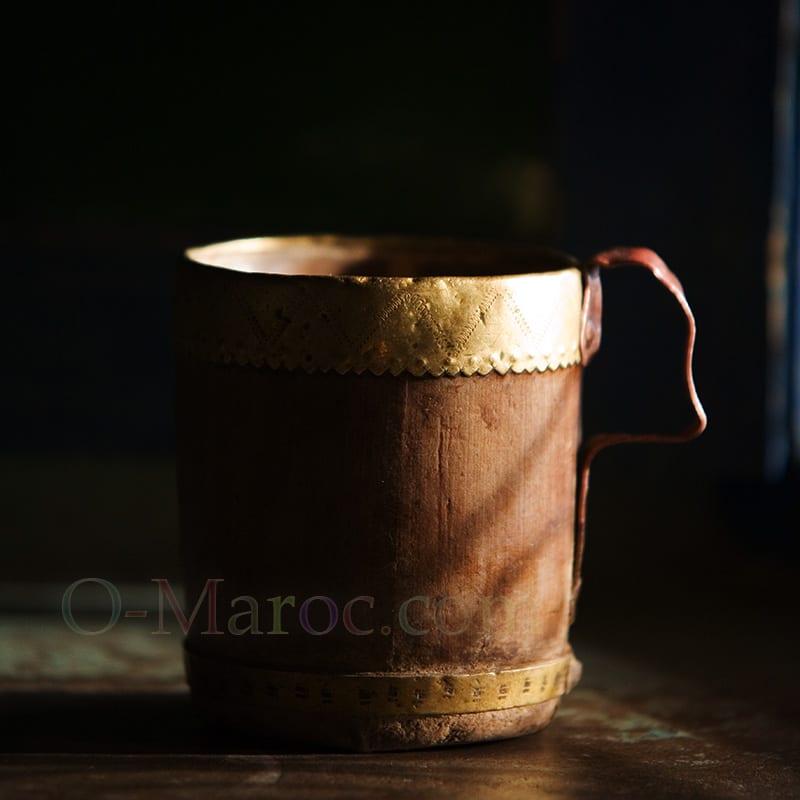 Chope en cèdre cerclée de cuivre
