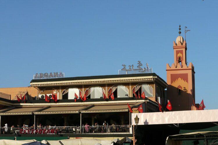 La terrasse argana en 2010