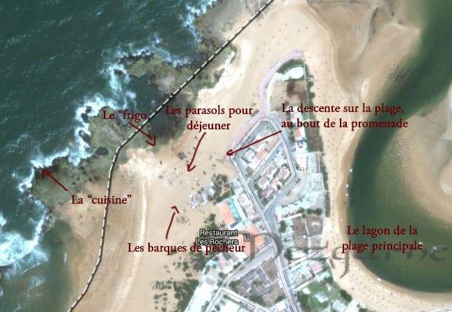Carte satellite pour Trouver pecheurs oualidia