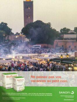Publicite Sanofi a propos de la tourista à Marrakech