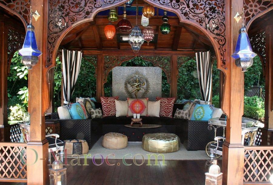 Salon de jarind marocain