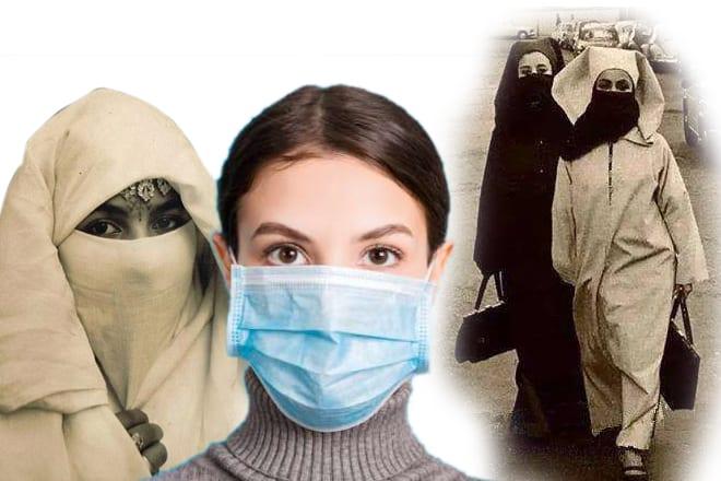 Différentes versions du masque et du hijab
