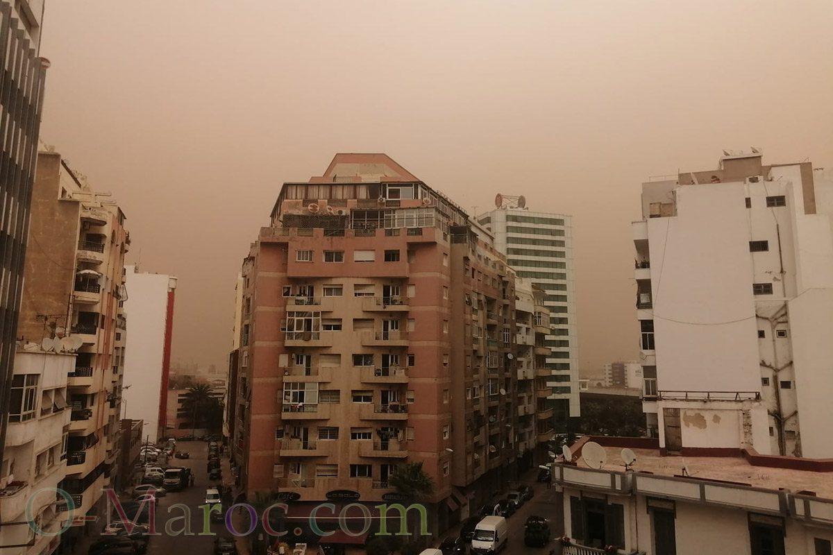 Casablanca sous la tempête de sable