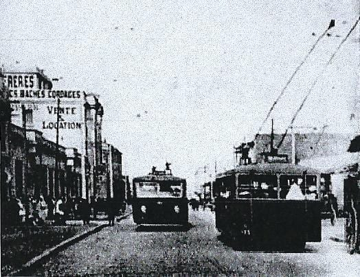Trolleybus à Casablanca en 1932