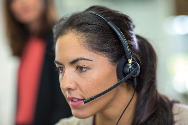 Opératrice dans un call-center