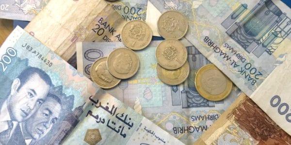 Billets et pièces en dirhams