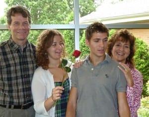 Une famille de quatre !  Photo licence CC de Deb Nystrom