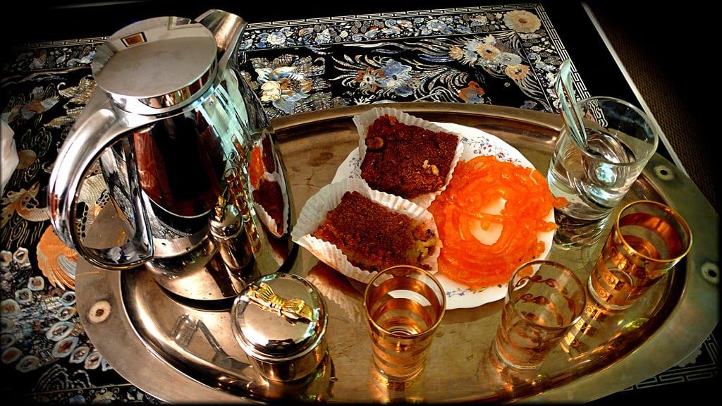 Un plat de rupture du jeune de Ramadan