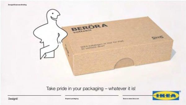 Publicité Ikea pour ses paquets