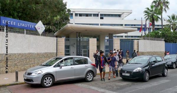 L'entrée du lycée Lyautey