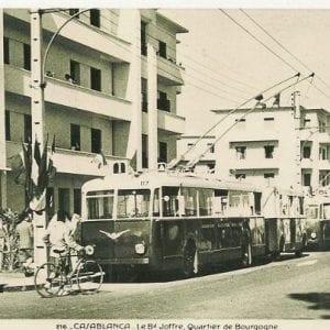 La ligne n°8 du trolleybus, au Boulevard Joffre