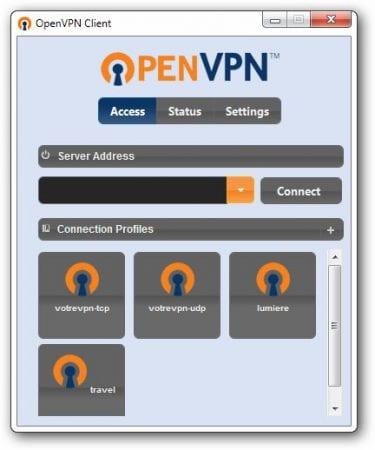 Choisir son profil sous OpenVPN