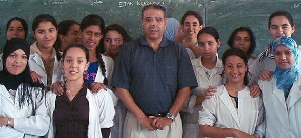 Photo de classe dans un lycée de Casablanca